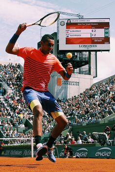 Nick Kyrgios at Roland Garros 2015. Get his gear here: http://www.tennis-warehouse.com/player.html?ccode=KYRGIOS