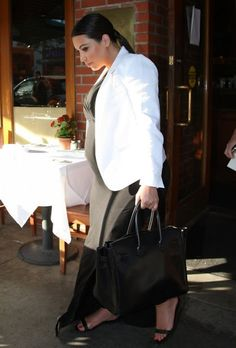 Pregnant Kim Kardashian: Lunches in Beverly Hills