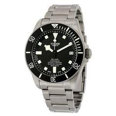 Tudor Pelagos Black Dial Titanium Men's Watch 25600TN