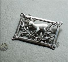 1940s Coro Norseland Sterling Silver Fawn Brooch. $85.00, via Etsy.