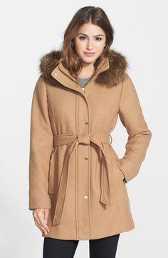 Ellen Tracy - Hooded Wool Blend Coat