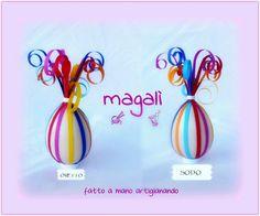uova con strisce arcobaleno e riccioli - sinide magali