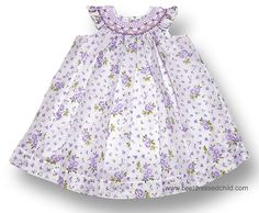 Will'Beth Lavender Lilac Smocked Dress with Bloomers