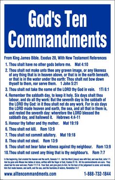 God's Ten Commandments. Have you broken any of them? If so, then you need God's mercy, which comes through Jesus. If you first need to know if God exists, visit my creation science board and either read or comment, or both.