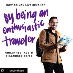 """#Repost @beyondtype1  Proud to be an original member of the @beyondtype1 wall of warriors raising awareness for Type 1 #TBT  Meet @thediabetictraveler """"I was diagnosed with Type 1 diabetes when I was 2 years old. I have survived the first Gulf War in 1990 along with my health condition working along with the IDF to fight discrimination against diabetics and to spread awareness and change the misconception about it. I live and thrive through traveling while traveling I have met amazing…"""