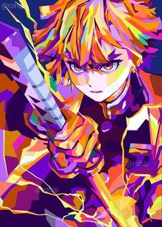 Demon Slayer, Slayer Anime, Pop Art Posters, Poster Prints, Anime Demon, Animes Wallpapers, Simple Acrylic Paintings, Anime Art, Images