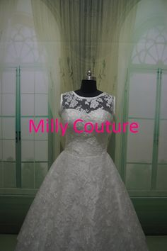 Audrey Vintage style lace short bridal gown by MillyCouture