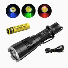 Nitecore MH27 Flashlight with nitecore NL188 18650 3200mah battery XP-L HI V3 LED 1000LM RGB LED High Bright Torch Waterproof