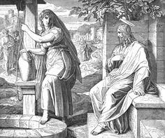 Bilder der Bibel - Jesus und die Samariterin -Julius Schnorr von Carolsfeld