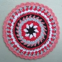 Crochet Mandala Wheel made by Kerrie, New Zealand, for yarndale.co.uk