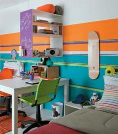 Kinderzimmer Skandinavisch Einrichten Hochbett Kindertapette ... Babyzimmer Orange Grn
