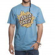 Camiseta Santa Cruz: Weed Dot Aqua NV