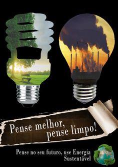 Propaganda para a utilização de energia sustentável