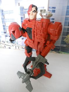 """Doc Terror, a mad scientist bent on world power. Fused to a prosthetic and robotic """"Syntax"""" unit, he is a villain from the Centurions line of toys. 1980s Toys, Retro Toys, Vintage Toys, Childhood Toys, Childhood Memories, The Centurions, Geek Toys, Kenner Toys, Modern Toys"""