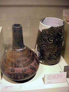 Ceramic vessels found at the Cahokia Mounds site in Illinois, USA