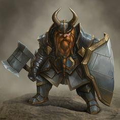 Dwarf Battle Instructor, Joshua Carrenca on ArtStation at https://www.artstation.com/artwork/dwarf-battle-instructor