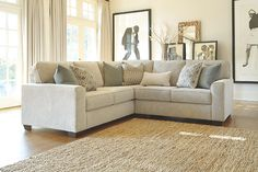 relax on one of these soft textured white sectional couches