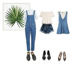 """""""DENIM SUMMER"""" by akairingo on Polyvore featuring Pottery Barn, H&M, M.i.h Jeans, George J. Love, Violeta by Mango and Dr. Martens"""