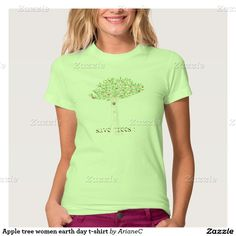 Apple tree women earth day t-shirt designed by ArianeC