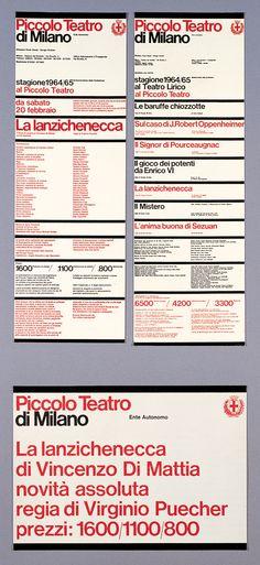 Piccolo Teatro, Vignelli Associates, New York, 1964