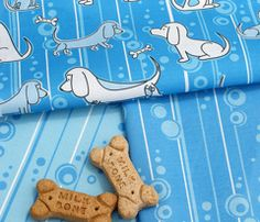 Modern Bassets Collection in Blue - Spoonflower