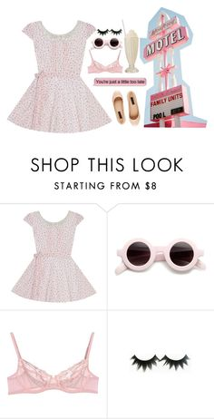 """""""Pretty in pink nymphet"""" by loelita ❤ liked on Polyvore featuring La Perla and Forever New"""