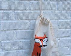 Mini bolso de la Fox diseño Original foxy bolso / por LaLisette