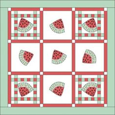 Free Watermelon Quilt Pattern