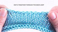 K2togtbl stretchy bind off