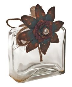 Blue & Brown Flower Jar