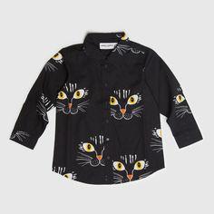 Mini Rodini Cat Face Shirt