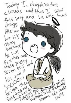 Castiel is based off of the archangel Cassiel, who is said to have fallen in love with humanity and the righteous man.  which is Dean