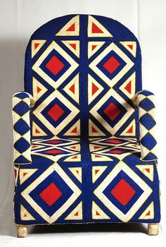 "MY THRONE!    ""Beaded Beauty: Yoruba Chairs on the AphroChic blog."""