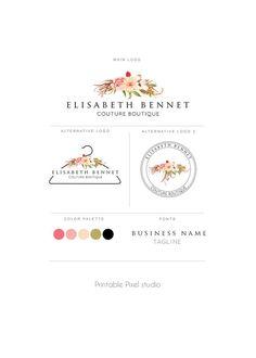 Branding pacchetto Logo Design Logo fiore abbigliamento