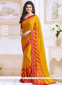 Prachi Desai Yellow Bollywood Saree Model: YOSAR9661