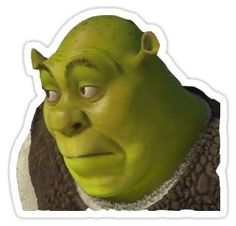 High quality Shrek gifts and merchandise. Inspired designs on t-shirts, posters, stickers, home decor, and more by independent artists and designers from around the world. Meme Stickers, Snapchat Stickers, Tumblr Stickers, Diy Stickers, Printable Stickers, Room Stickers, Shrek Funny, Shrek Memes, Shrek Drawing