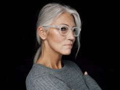 pretty grey hair ladies with glasses Grey Hair Styles For Women, 1 Image, Dyed Hair, Lady, Curly Hair Styles, Fashion Beauty, Hair Care, Eyes, Pretty