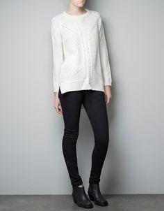 KNITTED SWEATER - Knitwear - Woman - ZARA United States
