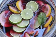 Homemade Summer Sangria from Toni Spilsbury The Organized Cook
