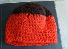 Newborn Baby Hat Brown Skull Cap Autumn Baby Hat by lanacooper,