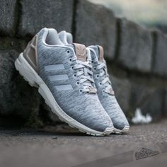 Adidas Zx Flux Breathable Running Shoes White Casual Mens Red Blue Good Appearance