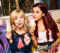 Sam and cat Victorious Cat, Icarly And Victorious, Nick Tv Shows, Sam E Cat, Ariana Grande Cat, Perfect Tv, Celebrity Singers, Jennette Mccurdy, Cat Valentine