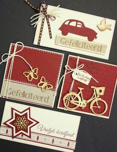 Marjoleine's blog: 8 kerstkaarten en verjaardagskaarten in het rood