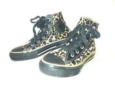 fcc356ff4548 Converse All Star Ox Low Leopard Print Faux Fur Smu Trainers Shoes ...