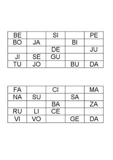 BREAL-Dislexia: Bingo de sílabas directas en mayúsculas Bingo, Periodic Table, Literacy Activities, Dyslexia, Reading, School, Periodic Table Chart, Periotic Table
