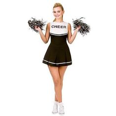 Fantasia Feminina Glee Líder de Torcida Escola Menina Roupas Completa elegantes uniforme