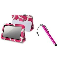 $7.55 #eForCity Pink Giraffe #Leather #Case With Stand + Pink Stylus compatible with Amazon Kindle Fire HD 7-inch