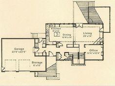 Prairie style house plan by Sarah Susanka