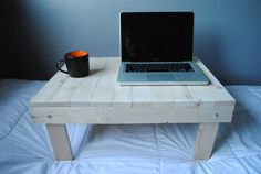 This foldable bed desk will allow you to continue using your laptop comfortably while you are laying down! This desk is built to last since nails are used to assemble the desk instead of wood glue. The desk also has metal corner braces to improve its durability and prevent it from