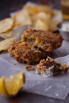 Crab-Corn Cakes with Basil-Jalapeno Sauce — Jamie and Bobby Deen — Recipes, Blogs, Podcast and Videos